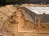 Základová deska pod srub (dešťová kanalizace), Kuřivody